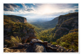Premium-Poster Blue Mountains, Australien