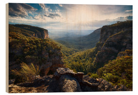 Holzbild  Blue Mountains, Australien - Michael Breitung