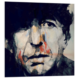 Hartschaumbild  Leonard Cohen   Hey That's No Way To Say Goodbye - Paul Lovering Arts