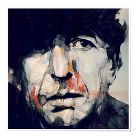 Premium-Poster  Leonard Cohen   Hey That's No Way To Say Goodbye - Paul Lovering Arts