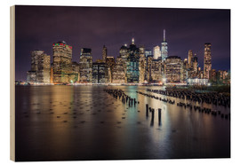 Holzbild  Downtown New York City - Dennis Fischer