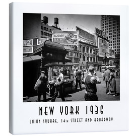 Leinwandbild  Historisches New York: Union Square, 14th Street and Broadway - Christian Müringer