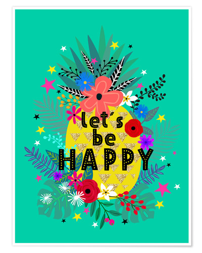 Poster Lets be Happy