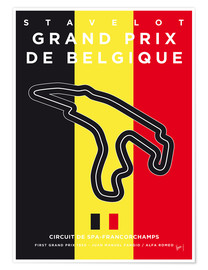 Poster  My F1 FRANCORCHAMPS Race Track Minimal Poster - chungkong