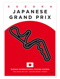 Premium-Poster F1 Grand Prix Japan 1987 (Suzuka International Racing Course)