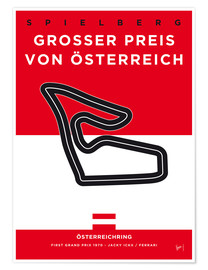 Poster My F1 Osterreichring Race Track Minimal Poster