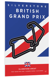 Forex  My F1 SILVERSTONE Race Track Minimal Poster - chungkong