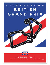 Poster  My F1 SILVERSTONE Race Track Minimal Poster - chungkong
