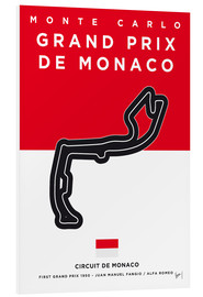 Forex  My F1 MONACO Race Track Minimal Poster - chungkong