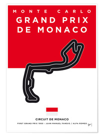 Poster  My F1 MONACO Race Track Minimal Poster - chungkong