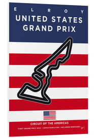 Hartschaumbild  F1 Grand Prix USA 2012 (Circuit Of The Americas) - chungkong