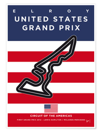 Premium-Poster F1 Grand Prix USA 2012 (Circuit Of The Americas)