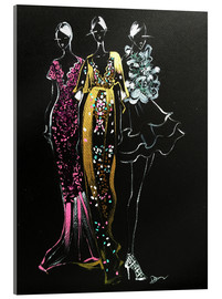 Acrylglas  Couture Fashion Illustration - Rongrong DeVoe