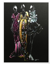 Premium-Poster Couture Fashion Illustration