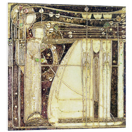 Hartschaumbild  Die Oper des Windes - Margaret MacDonald Mackintosh