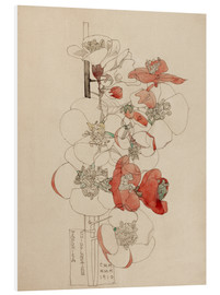 Hartschaumbild  Japonica - Charles Rennie Mackintosh