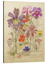 Alubild  Schmetterling Blume - Charles Rennie Mackintosh