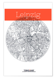 campus graphics - Leipzig Karte Stadt Plan