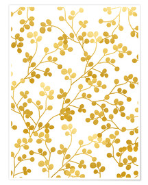 Premium-Poster Golden vines