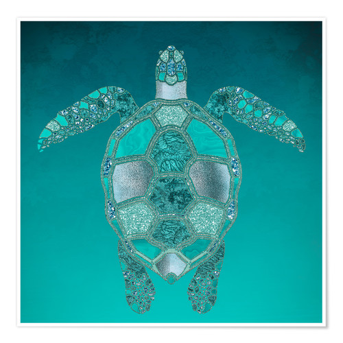 Premium-Poster Mermaid  Turtle