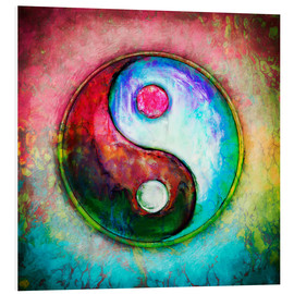 Hartschaumbild  Yin Yang - Colorful Painting 4 - Dirk Czarnota