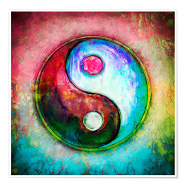Premium-Poster Yin Yang - Colorful Painting 4