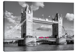 Leinwandbild  London, Tower Bridge Schwarz Weiss - rclassen