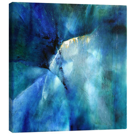Leinwandbild  Komposition in blau - Annette Schmucker
