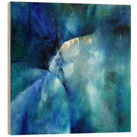 Holzbild  Komposition in blau - Annette Schmucker