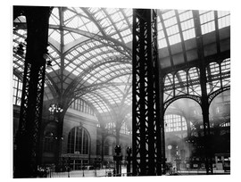 Hartschaumbild  Historisches New York: Penn Station, Manhattan - Christian Müringer