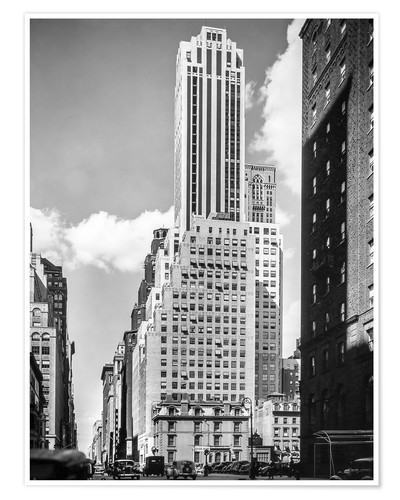 Premium-Poster Historisches New York: Madison Avenue