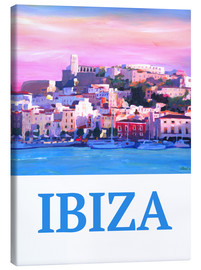 Leinwandbild  Retro Ibiza Old Town and Harbour Pearl Of the Mediterranean - M. Bleichner