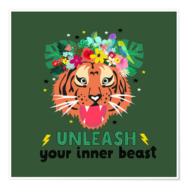 Premium-Poster Unleash your inner beast