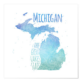 Premium-Poster michigan