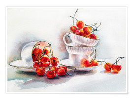 Premium-Poster cups&cherries