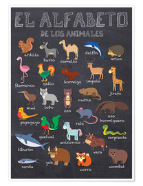 Premium-Poster  Alphabet der Tiere - Spanisch - Kidz Collection