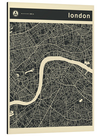 Alu-Dibond  LONDON CITY MAP - Jazzberry Blue