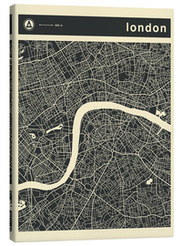 Leinwandbild  LONDON CITY MAP - Jazzberry Blue