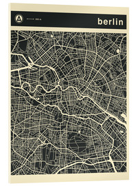 Acrylglas  BERLIN CITY MAP - Jazzberry Blue