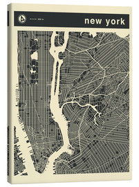 Leinwandbild  NEW YORK Stadtplan - Jazzberry Blue