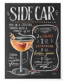 Premium-Poster  Sidecar Rezept (Englisch) - Lily & Val