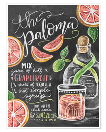 Premium-Poster  Paloma Rezept (Englisch) - Lily & Val