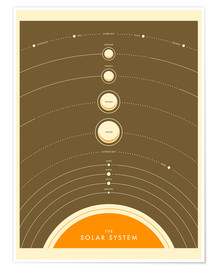 Premium-Poster The Solar System (Englisch) IV