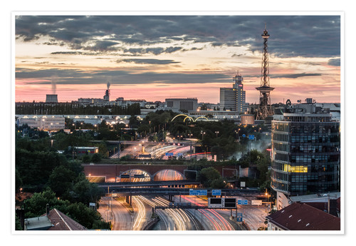 Premium-Poster Berlin Skyline City West