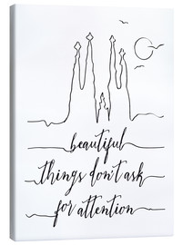 Leinwandbild  Beautiful things art - Nory Glory Prints