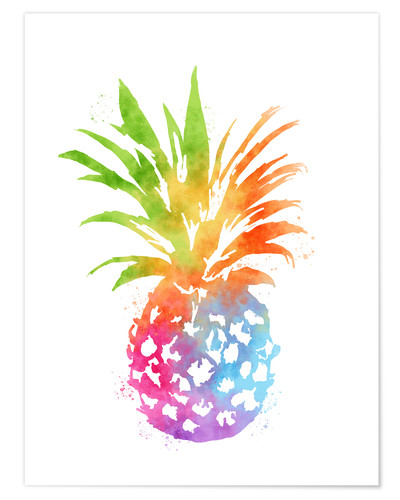 Poster WC Pineapple 16x20