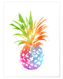 Premium-Poster WC Pineapple 16x20