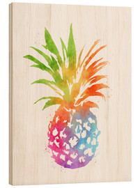 Holzbild  WC Pineapple 16x20 - Mod Pop Deco