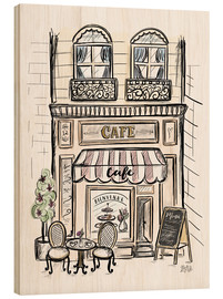 Holzbild  French Shop Front - Café - Lily & Val