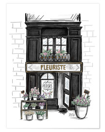 Premium-Poster  Fleuriste - Lily & Val
